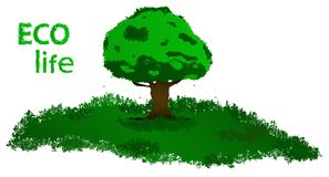 Vector drawing eco life, environmental protection of nature. vector illustration