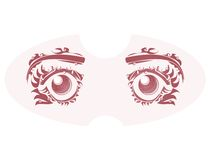 Vector drawing of eye on pink background. Royalty Free Stock Photo