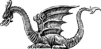 Fairy dragon Stock Images