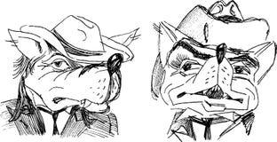 Cartoon wolf. Vector drawing of a fictional cartoon wolf stock illustration