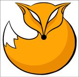 Fox icon round. Vector drawing of fox icon vector illustration