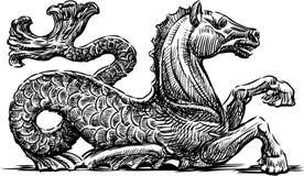 Mythological sea horse Royalty Free Stock Photos