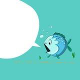 Vector drawing funny cartoon sea fish eps Royalty Free Stock Photography