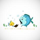Vector drawing funny cartoon sea fish eps Stock Photography
