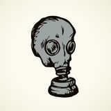 Vector drawing. Gas mask Royalty Free Stock Images