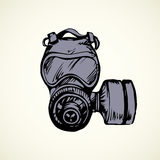 Vector drawing. Gas mask Stock Photo