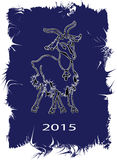 Vector drawing goats - the symbol of 2015 Stock Photography