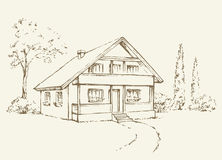 Vector drawing. House Stock Image