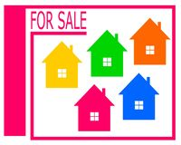 Vector drawing of a house for sale logo. vector illustration