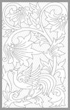 Jepara Floral Set. Vector drawing of jepara traditional floral set stock illustration
