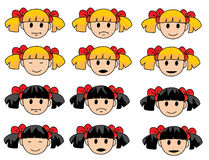 Vector drawing of little girl Royalty Free Stock Images