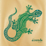 Vector drawing of a lizard Royalty Free Stock Photography