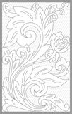Madura Floral Set. Vector drawing of madura traditional floral set royalty free illustration