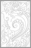 Majapahit Floral Set. Vector drawing of majapahit traditional floral set royalty free illustration
