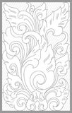 Mataram Floral Set. Vector drawing of mataram traditional floral set royalty free illustration