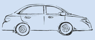 Vector drawing. Modern car. Side view Royalty Free Stock Images