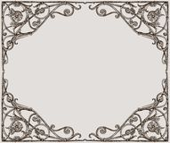 Vector drawing of a decorative frame in art nouveau style. Vector drawing of an ornate vintage frame stock illustration