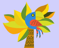 Vector drawing of the parrot Royalty Free Stock Image