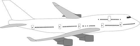 Large passenger aircraft Stock Images