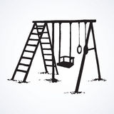 Vector drawing. Playground Stock Photo