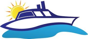 Cruise ship. A vector drawing represents cruise ship design Royalty Free Stock Photos