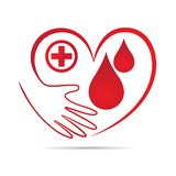 Donate blood and save life. A vector drawing represents medical care life of donate blood and save blood symbolic icon royalty free illustration