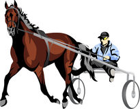 Vector drawing of a rider Stock Images