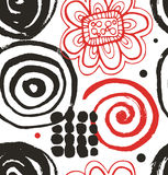 Vector drawing set with decorative ink drawn elements.  Royalty Free Stock Photo