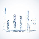Vector drawing sketch of chart column Stock Photo