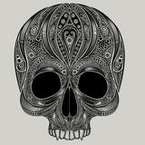 Vector drawing of a skull from the patterns Stock Photography