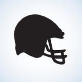Vector drawing. Sport helmet Royalty Free Stock Image