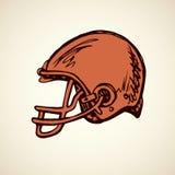 Vector drawing. Sport helmet Stock Photo