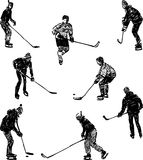 Hockey players Stock Photos