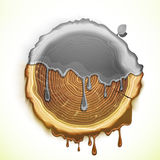 Vector drawing tree cut ecology concept Stock Photo