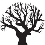 Vector drawing of the tree. Vector illustration of the tree silhouette Royalty Free Stock Photos