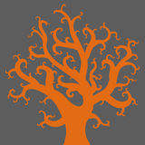 Vector drawing of the tree. Vector illustration of the tree silhouette Royalty Free Stock Photo