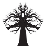 Vector drawing of the tree Royalty Free Stock Images