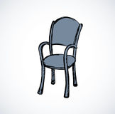 Vector drawing. Wooden chairs with armrests Stock Photo