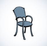 Vector drawing. Wooden chairs with armrests Royalty Free Stock Photography