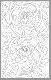 Yogya Floral Set. Vector drawing of Yogya traditional floral set stock illustration