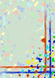 Vector drawn background with frame, border. Grunge template with splash, spray attrition, cracks. Old style vintage design. Graphi. C illustration. a4 size stock illustration