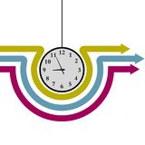 Vector drawn digital clock, time is approaching nine o`clock. Vector drawn digital clock, time is approaching nine o`clock,isolated on white background Stock Image