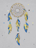 Vector Dreamcatcher Amulet. Ethnic illustration, tribal Stock Photography
