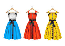 Vector dresses Royalty Free Stock Image