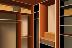 Vector dressing room vector illustration