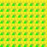 Vector driehoekige geelgroene naadloze achtergrond Geometrische Achtergrond royalty-vrije illustratie