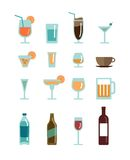 Vector drinks icons Royalty Free Stock Photo