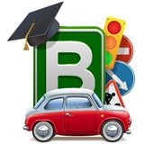 Vector Driving School Concept with Automobile Stock Images