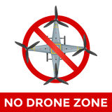 Vector drone prohibited sign illustration Stock Photos