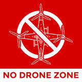 Vector drone prohibited sign illustration Stock Image